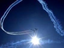 RADOM, POLOGNE - 30 août : Flèches rouges de RAF (A royal Images libres de droits