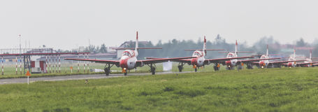 RADOM, POLOGNE - 26 AOÛT 2017 : Bialo-Czerwone Iskry Pologne image stock