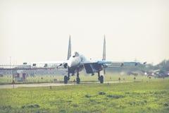 RADOM, POLOGNE - 26 AOÛT 2017 : L'Armée de l'Air ukrainienne Sukhoi Su Image stock