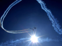 RADOM, POLONIA - 30 agosto: Frecce rosse di RAF (A reale Immagini Stock Libere da Diritti