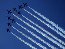 RADOM, POLONIA - 30 agosto: Frecce rosse di RAF (A reale Fotografia Stock