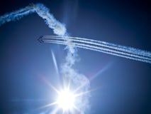 RADOM, POLONIA - 30 de agosto: Flechas del rojo de la Royal Air Force Foto de archivo libre de regalías