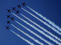 RADOM, POLONIA - 30 de agosto: Flechas rojas de la Royal Air Force (A real Fotografía de archivo
