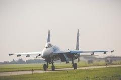 RADOM, POLONIA - 26 AGOSTO 2017: Aeronautica ucraina Sukhoi Unione Sovietica Immagini Stock