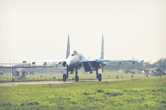 RADOM, POLONIA - 26 AGOSTO 2017: Aeronautica ucraina Sukhoi Unione Sovietica Immagine Stock