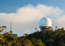 Radome radar device Waimea Canyon Kauai Stock Photography