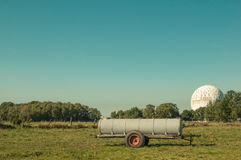 Radome and Watertank royalty free stock images