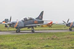 RADOMSKI, POLSKA, SIERPIEŃ - 26: Orlika Polska pokazu aerobatic drużyna Obrazy Royalty Free