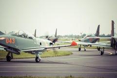 RADOMSKI, POLSKA, SIERPIEŃ - 26: Orlika Polska pokazu aerobatic drużyna Obraz Stock