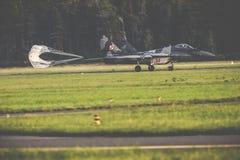 RADOMSKI, POLSKA, SIERPIEŃ - 26: Polska siły powietrzne, Mig 29 Fulcrum, i Zdjęcie Stock