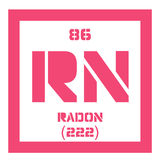 Radon chemical element Stock Photos