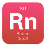 Radon chemical element Royalty Free Stock Photo
