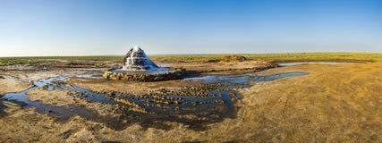 Radon entspringt an der Unterseite des getrockneten-oben Aralsees Lizenzfreies Stockfoto