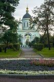 Radonezh的圣Sergius牧师寺庙在Rogozhskaya Sloboda,莫斯科,俄罗斯的 免版税库存图片