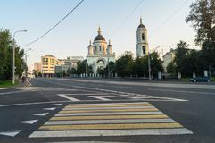 Radonezh的圣Sergius牧师寺庙在Rogozhskaya Sloboda,莫斯科,俄罗斯的 免版税图库摄影