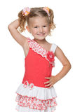 Radosna ładna mała dziewczynka Obraz Stock