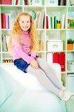 Radosna dziewczyna zdjęcie stock