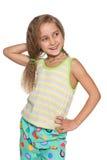 Radosna mała dziewczynka wyobraża sobie Zdjęcia Royalty Free