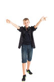 Radosna nastolatek chłopiec. Obrazy Stock