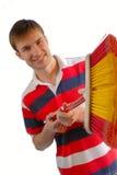 radosny człowiek młody Zdjęcia Stock