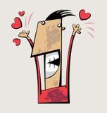 Radosny mężczyzna ilustracja wektor