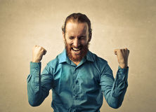 radosny mężczyzna Zdjęcie Royalty Free