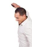 Radosny mężczyzna cieszenie przy dobre'em wieści Obraz Royalty Free