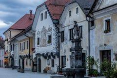 Radoveljica stad, Slovenien Arkivbild
