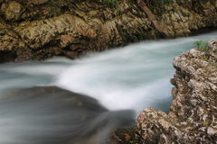 Radovna river  in Slovenia Royalty Free Stock Photos