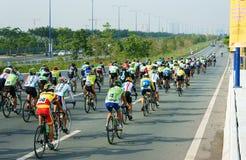 Radrennen, Asien-Sporttätigkeit, vietnamesischer Reiter Lizenzfreies Stockbild