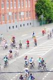 Radrennen in Moskau Lizenzfreie Stockfotos