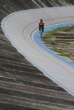 Radrennenpraxis Stockbild