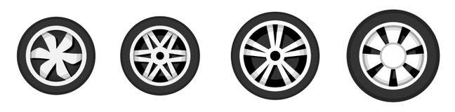 Radscheibe mit Reifen Stockfotos