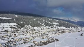 Radstadt, Pongau στο Σάλτζμπουργκ, Αυστρία κατά τη διάρκεια του χειμώνα φιλμ μικρού μήκους