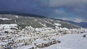 Radstadt, Pongau w Salzburg, Austria podczas zimy zbiory