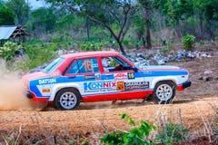Raduni le automobili, il motorsport di raduno, il campionato 2017 di raduno di F2 Tailandia, il modello classico dell'automobile  fotografie stock
