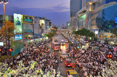 Raduni tailandesi contro la fattura di amnistia Immagine Stock Libera da Diritti