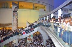 Raduni tailandesi contro la fattura di amnistia Fotografia Stock