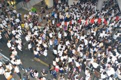Raduni tailandesi contro la fattura di amnistia Fotografia Stock Libera da Diritti