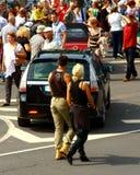 """Raduno antico internazionale """"Riga retro"""" 2013 dell'autoveicolo immagini stock libere da diritti"""