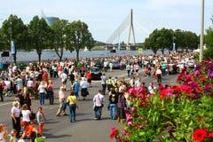 """Raduno antico internazionale """"Riga retro"""" 2013 dell'autoveicolo fotografia stock"""