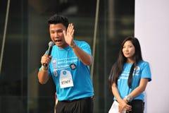 Raduno anticorruzione a Bangkok Immagine Stock