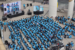 Raduno anticorruzione a Bangkok Immagini Stock Libere da Diritti