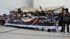 Raduno anticorruzione a Bangkok Fotografia Stock