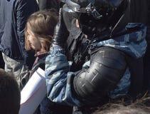 Raduno anticorruzione Mosca nel 26 marzo 2017 Fotografia Stock Libera da Diritti