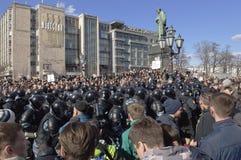 Raduno anticorruzione Mosca nel 26 marzo 2017 Immagini Stock Libere da Diritti