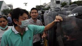 Raduno antigovernativo a Bangkok Immagine Stock Libera da Diritti
