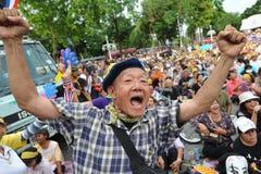 Raduno antigovernativo del gruppo dell'esercito della gente a Bangkok Fotografia Stock Libera da Diritti