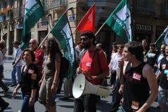 Raduno basco del sindacato Immagine Stock