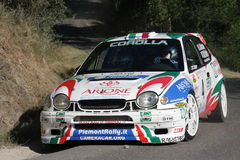 Raduno Ca di Toyota Corolla WRC fotografie stock